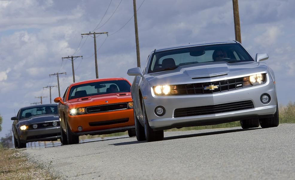 2010 Chevy Camaro SS vs 2010 Ford Mustang GT 2009 Dodge