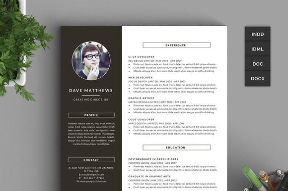 Hipster Resume Cv With Cover Letter Hipster Resume Resume Cv Resume Examples