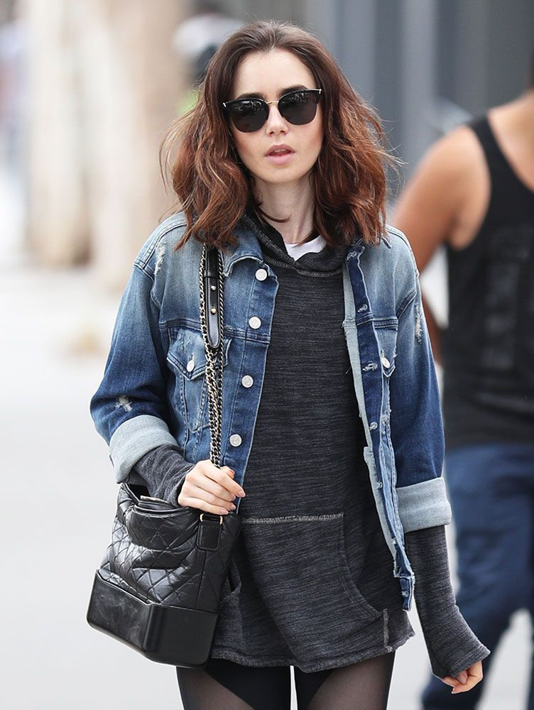 4e1942b02e10 Just Can't Get Enough: Lily Collins and Her Chanel Gabrielle Bag ...