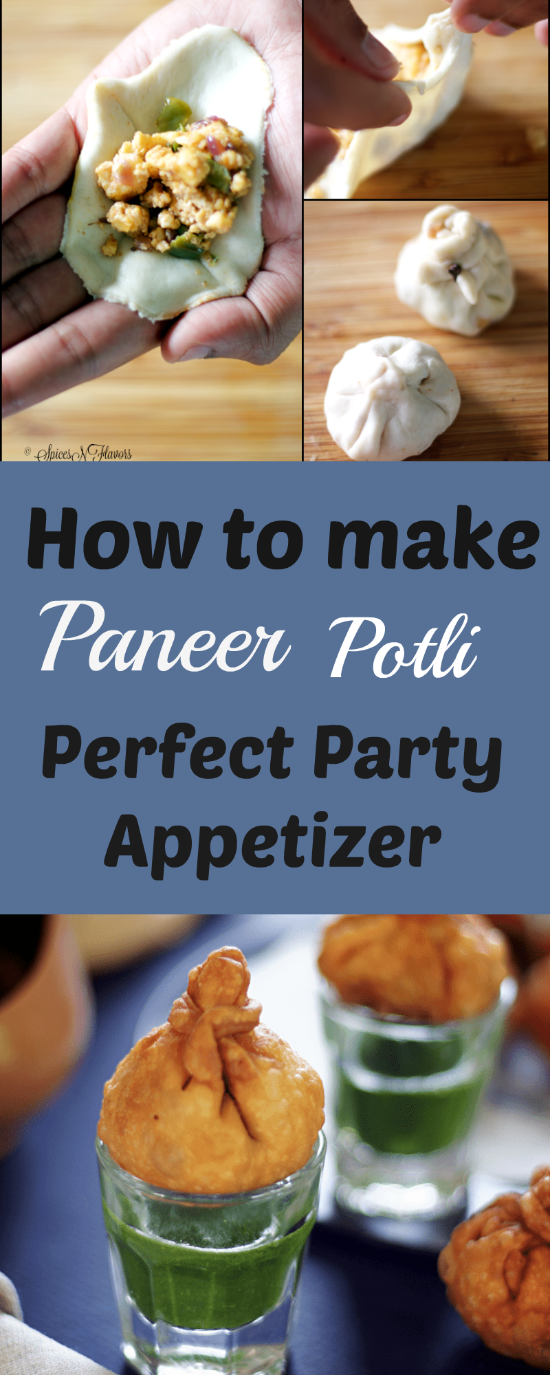 Paneer Potli - Party Appetizer/ Starter | Recipe | Party appetizers ...