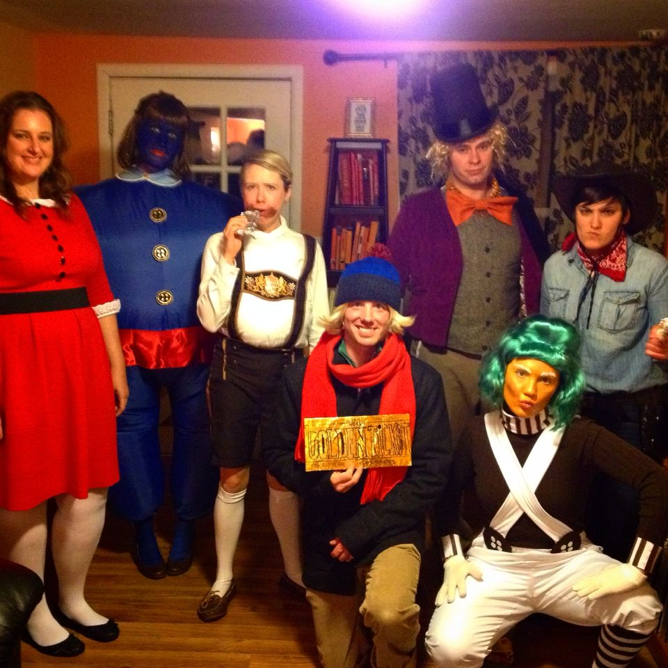 Willy Wonka and the crew make for a great group Halloween Costume ...