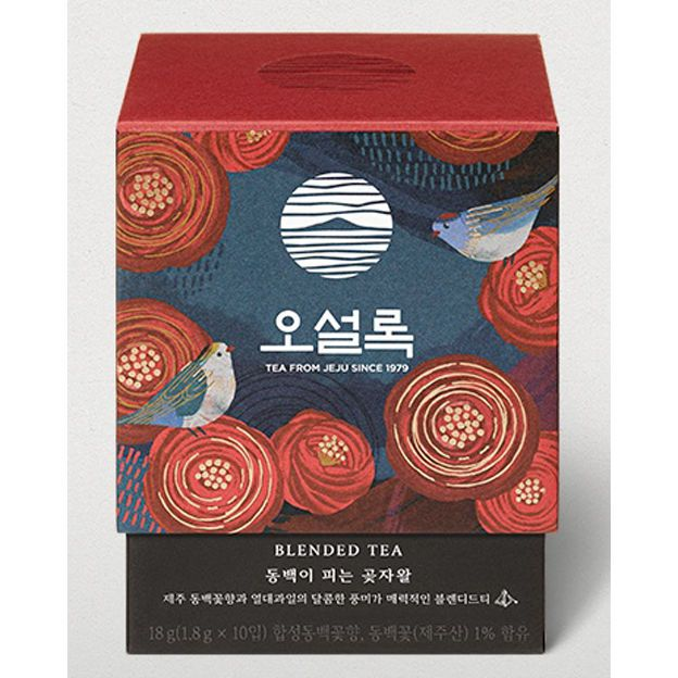 Osulloc Memory In Jeju Camellia Flower Blending Tea 10t Tea Packaging Design Fragrance Packaging Tea Packaging