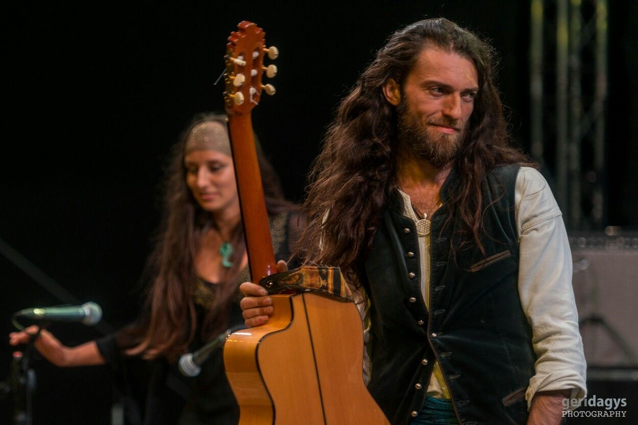 "2014 Estas Tonne and Reka Fodor @ ""Gustar Festival"",Moldova. Photo by Geri Dagys. #estastonne #festival #performance #guitar #music #gypsy #flamenco #latin #moldova #goa #meditation #atmospheric"