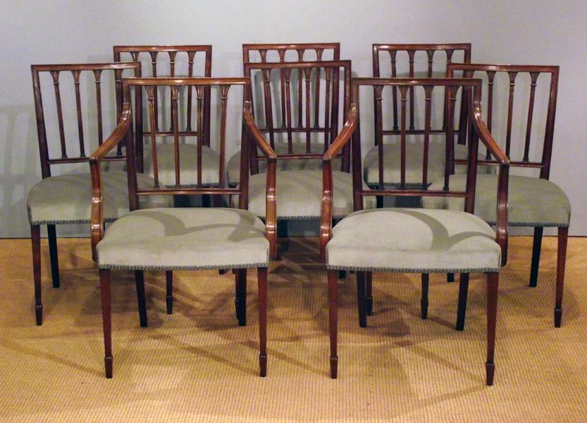 Set of 8 antique mahogany dining chairs - Set Of 8 Antique Mahogany Dining Chairs Sitting Room Pinterest