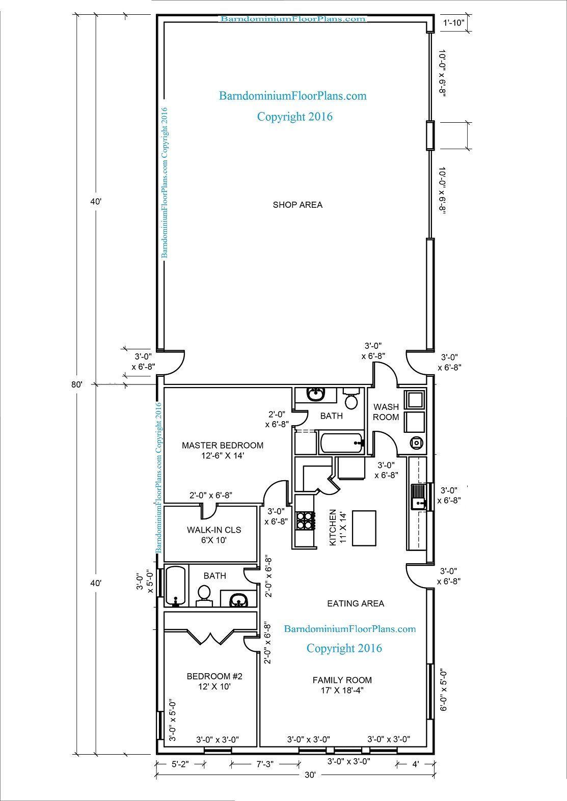 20 Barndominium Floor Plans Metal Building Floor Plans