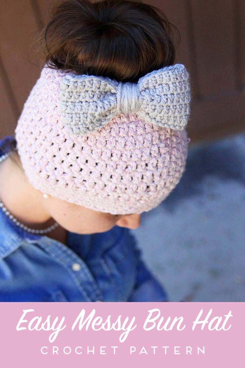 Messy bun free crochet pattern messy buns free crochet and crochet hat crochet bankloansurffo Image collections
