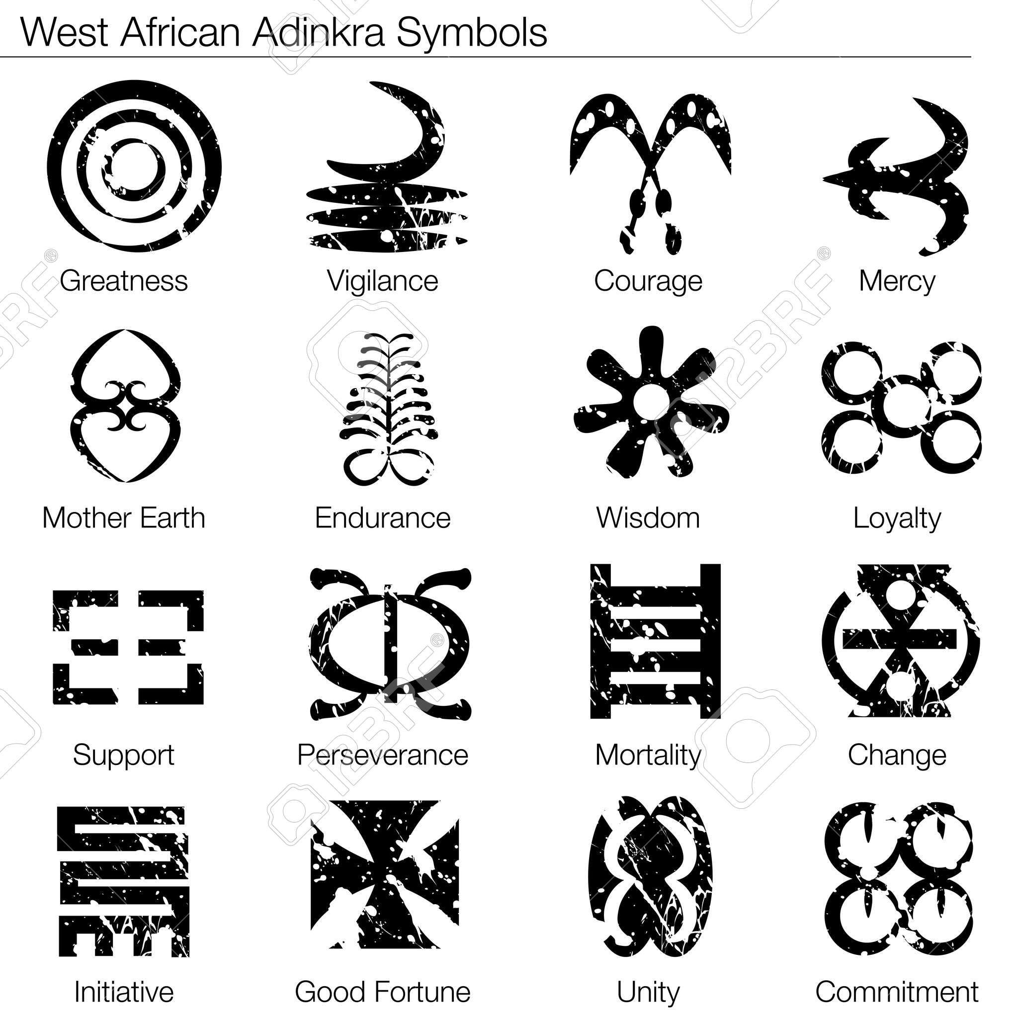 An Image Of A West African Adinkra Symbols Tattoos Pinterest