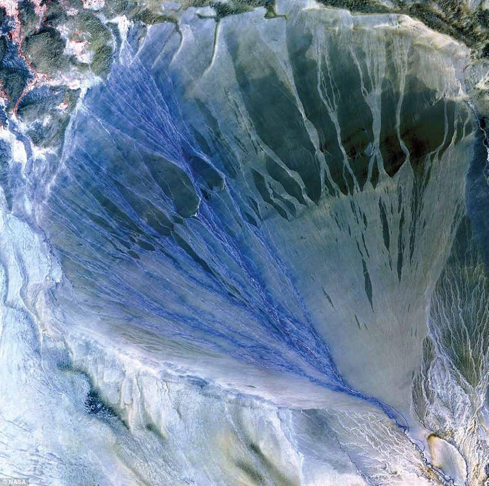 Alluvial Fan, China / NASA
