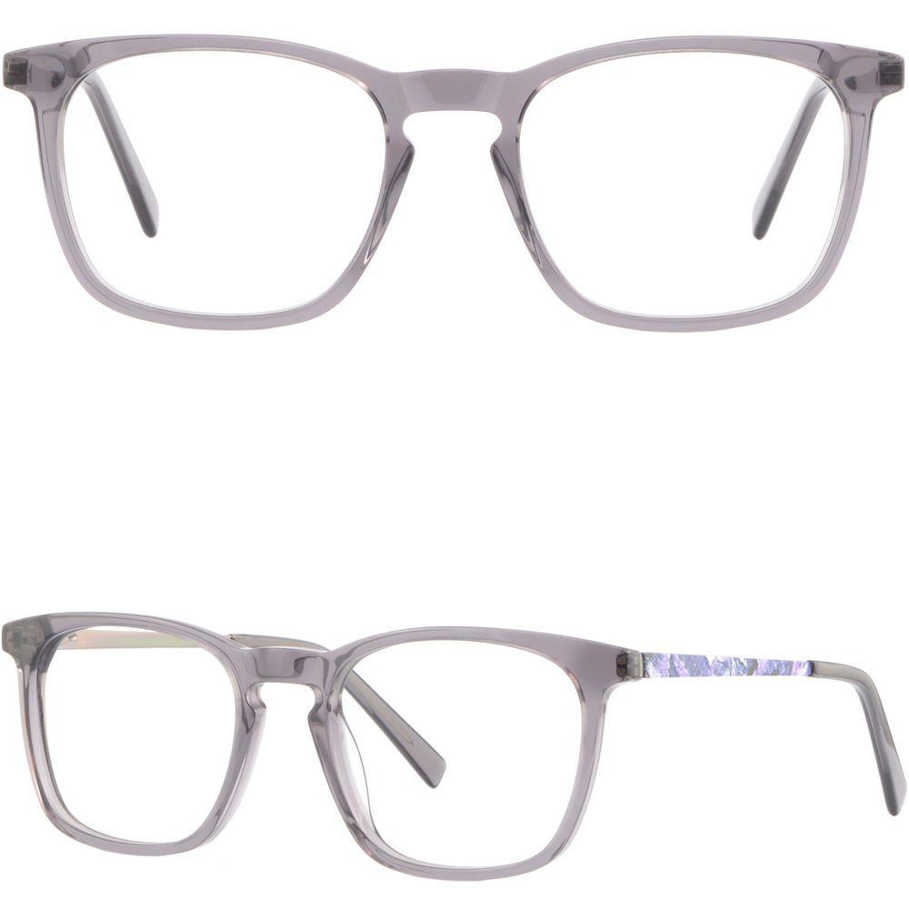 76fda13f9ca Square Women Light Acetate Metal Frame Spring Hinge Prescription Eyeglasses  Gray