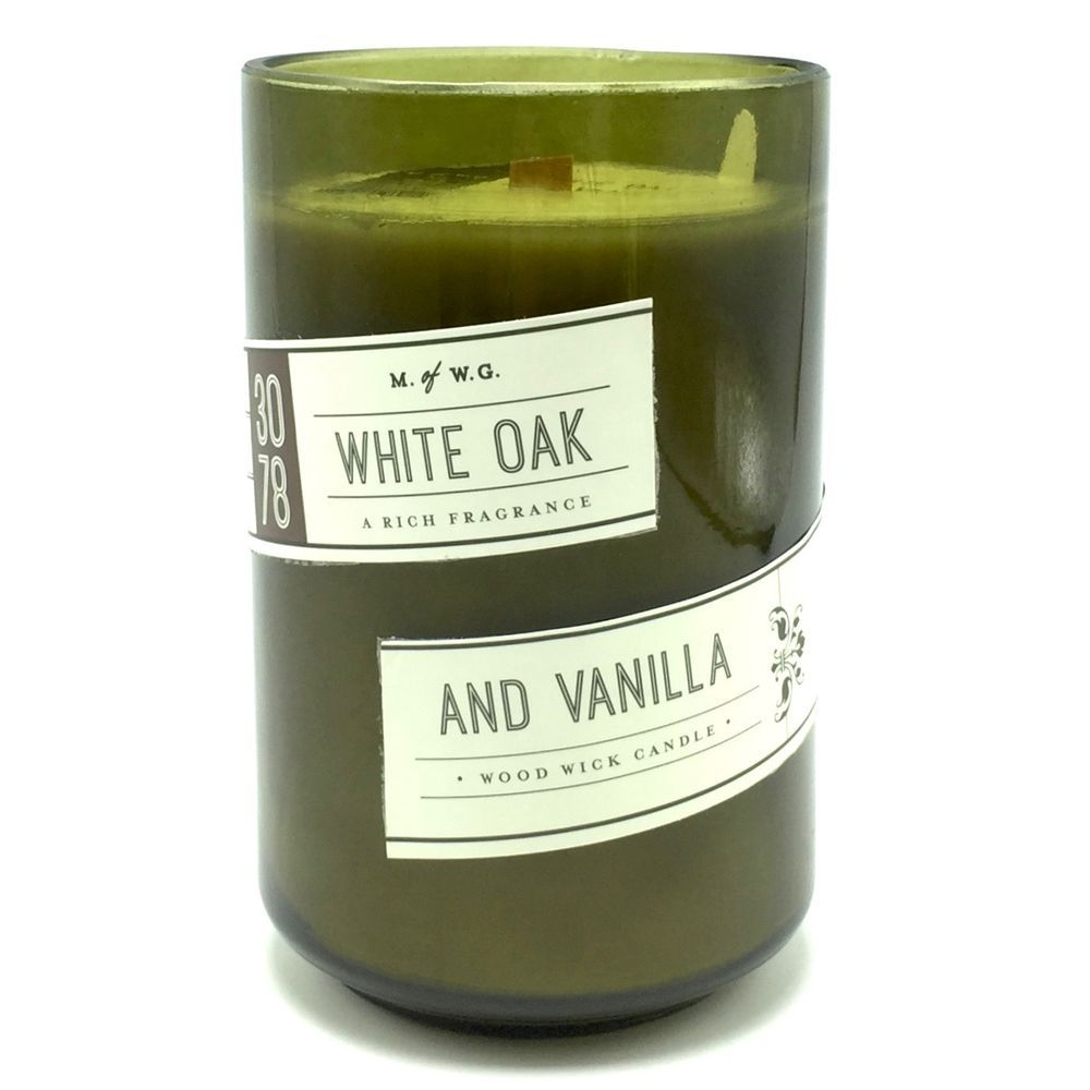 White Oak And Vanilla Scented Candle Wood Wick Makers Of Wax Goods Makersofwaxgoods
