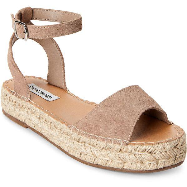 539d408b4cf Steve Madden Sand Irys Platform Espadrille Sandals (2.880 RUB) ❤ liked on  Polyvore featuring