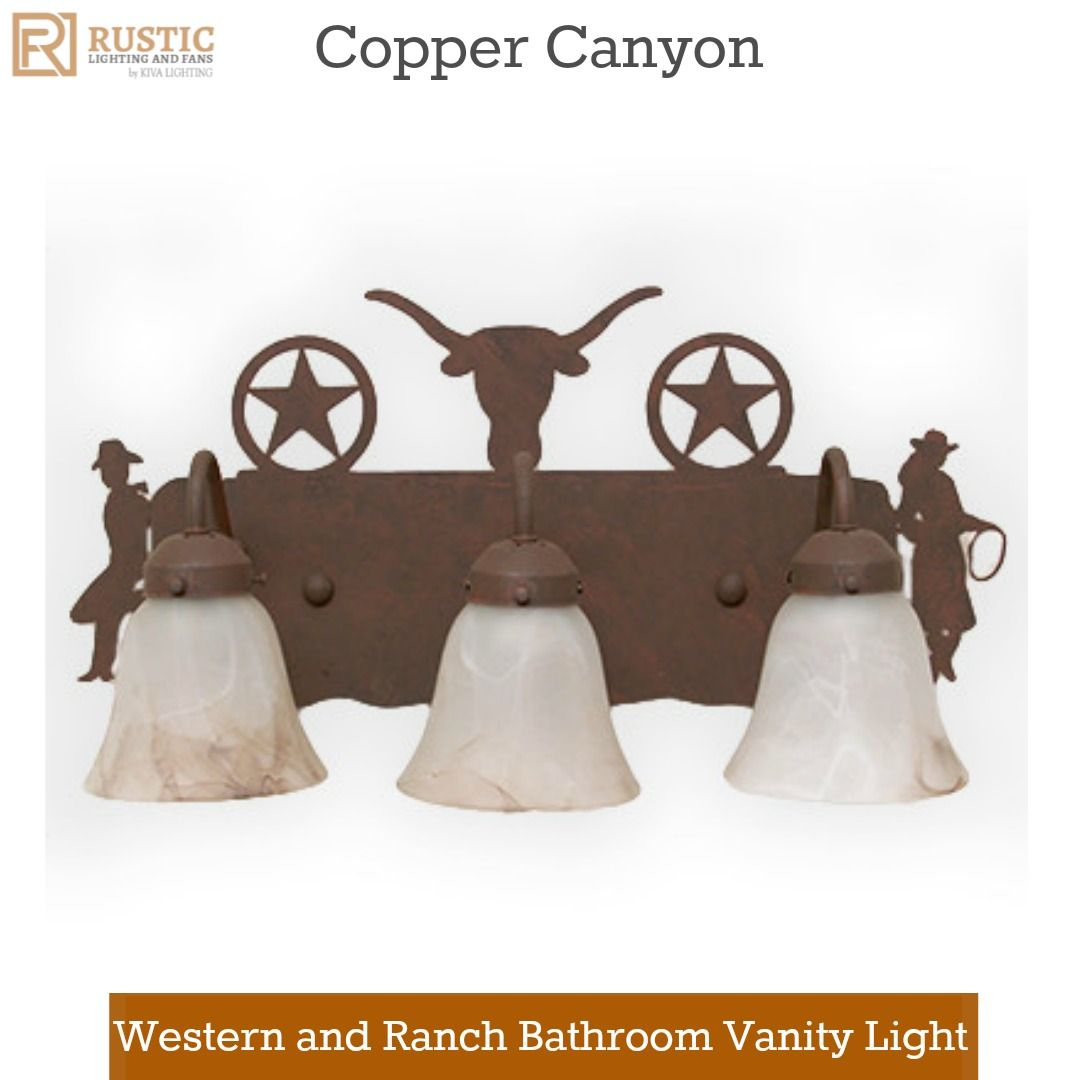 Western and ranch bathroom vanity light westernlighting western and ranch bathroom vanity light westernlighting vanitylighting bathlighting bathroomdecor aloadofball Image collections