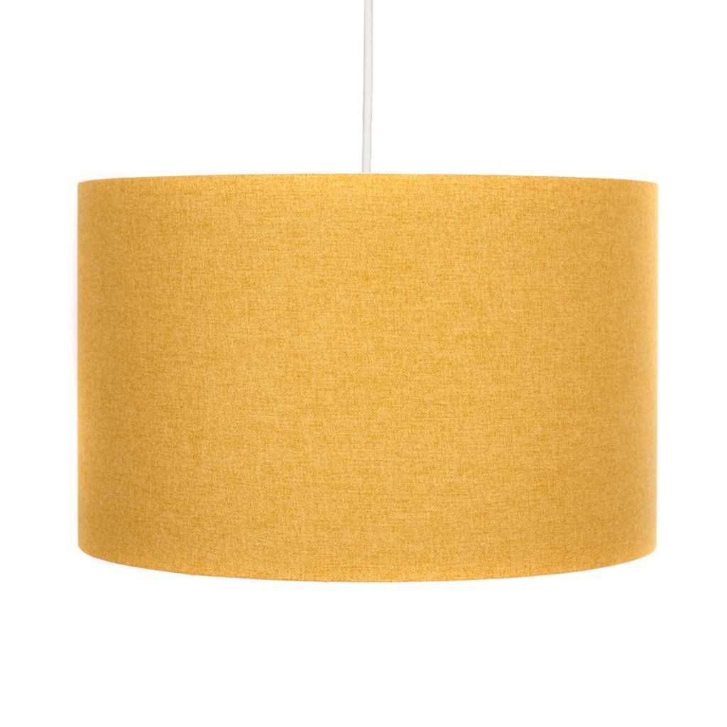 Saffron yellow lampshade yellow fabric ceiling lights and drums saffron yellow 30cm lamp shade hunkydory home aloadofball Images