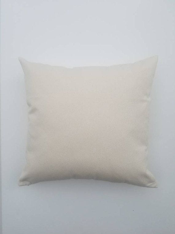 40x40 Wholesale Pillow Covers WHITE NATURAL GRAY Canvas Blank Awesome Blank Pillow Covers Wholesale