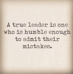 #leader #humility