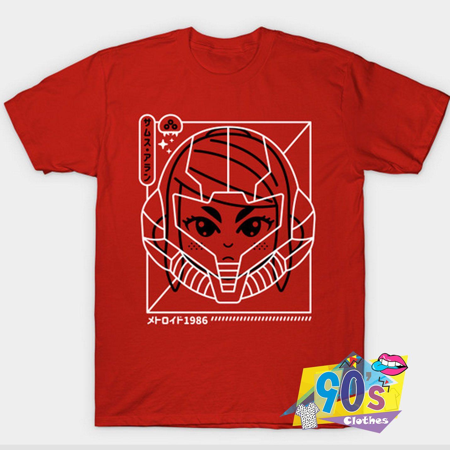 Cyber Helmet Metoroido Gaming T shirt #decadedayoutfits