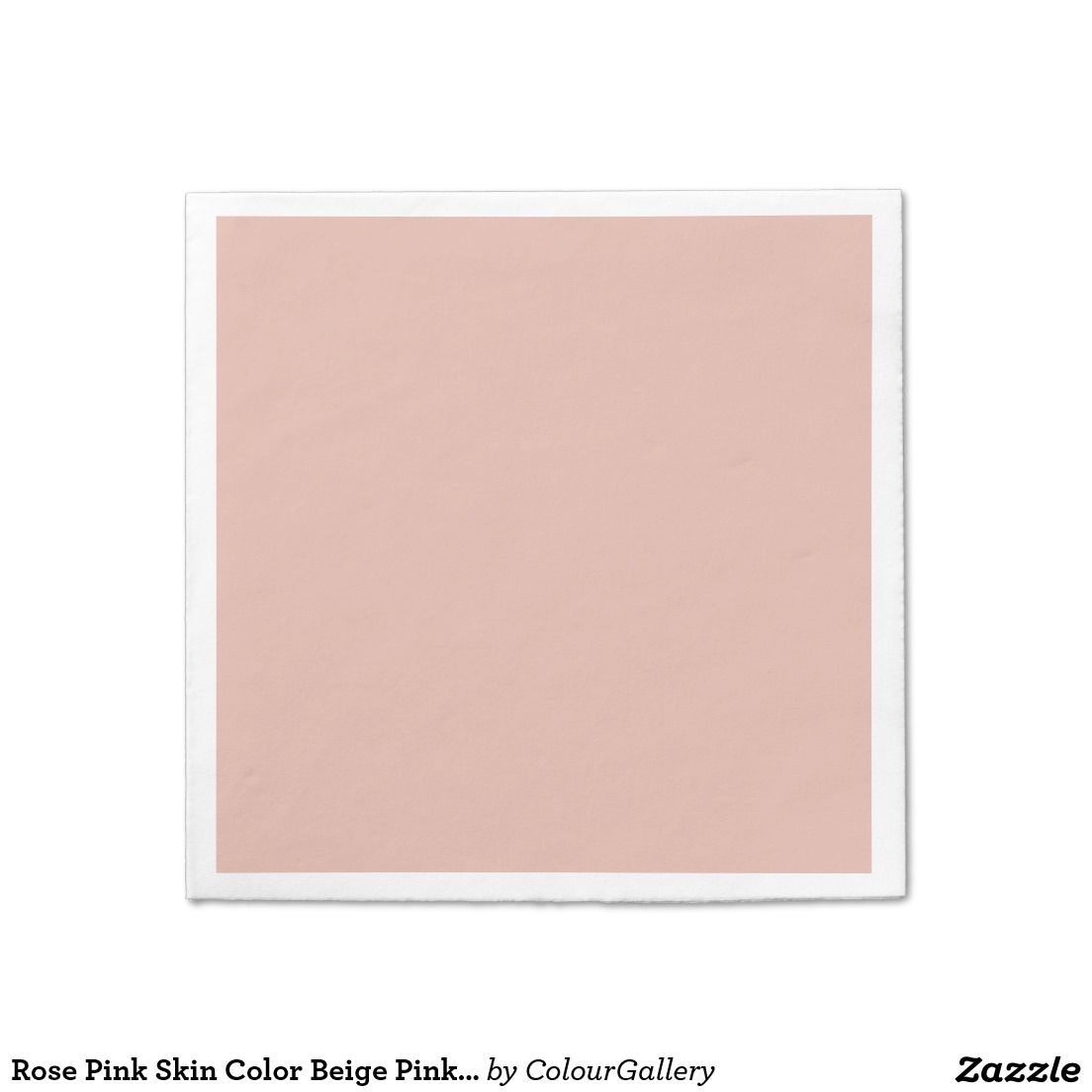 Rose Pink Skin Color Beige Pinkish Portrait Blush Disposable Napkin