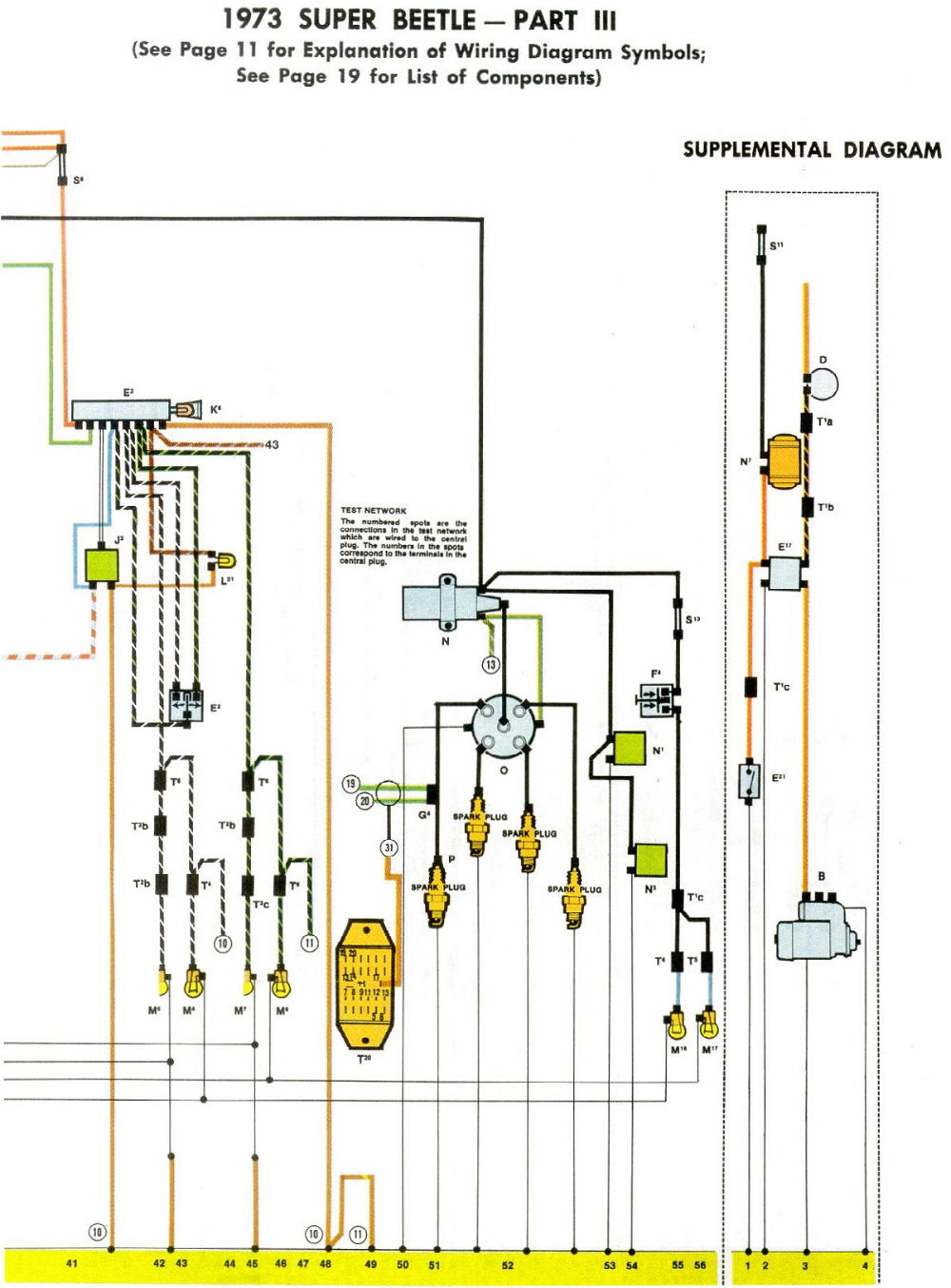 1973 Super Beetle Wiring Diagram | TheGoldenBug.com | Vw ...