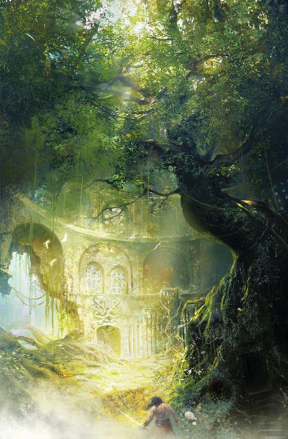 Los Monstruo Son Reales Los Fantasmas Tambien Son Reales Viven Dentro De Paisaje De Fantasia Ilustracion De Paisaje Ilustracion De Fantasia