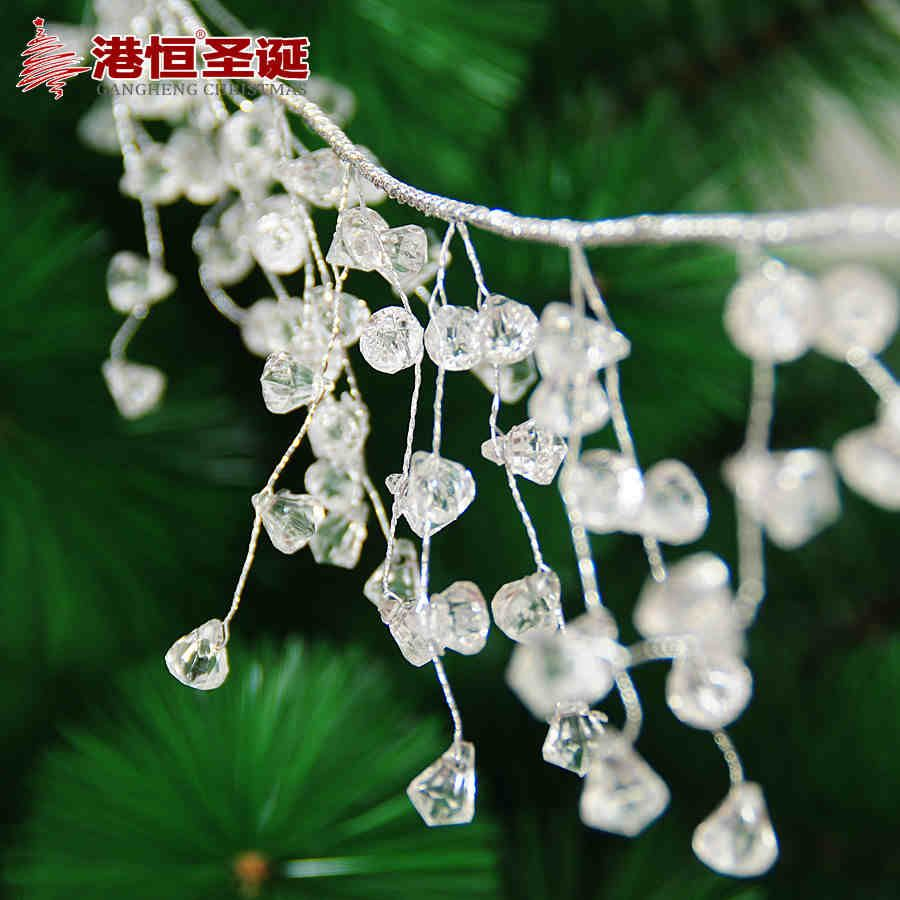 Wedding decorations hanging from trees  Christmas Tree Hanging Decoration m Length Silver Wire cm White