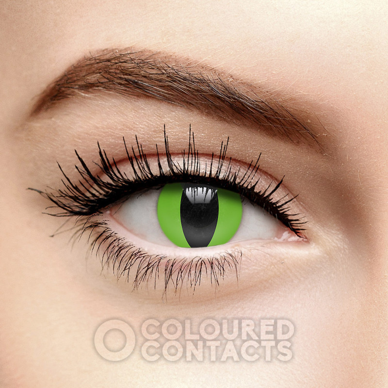Green Snake Eye 30 Day Colored Contact Lenses Reptile Cobra Lens Contact Lenses Colored Coloured Prescription Contact Lenses Green Contacts Lenses