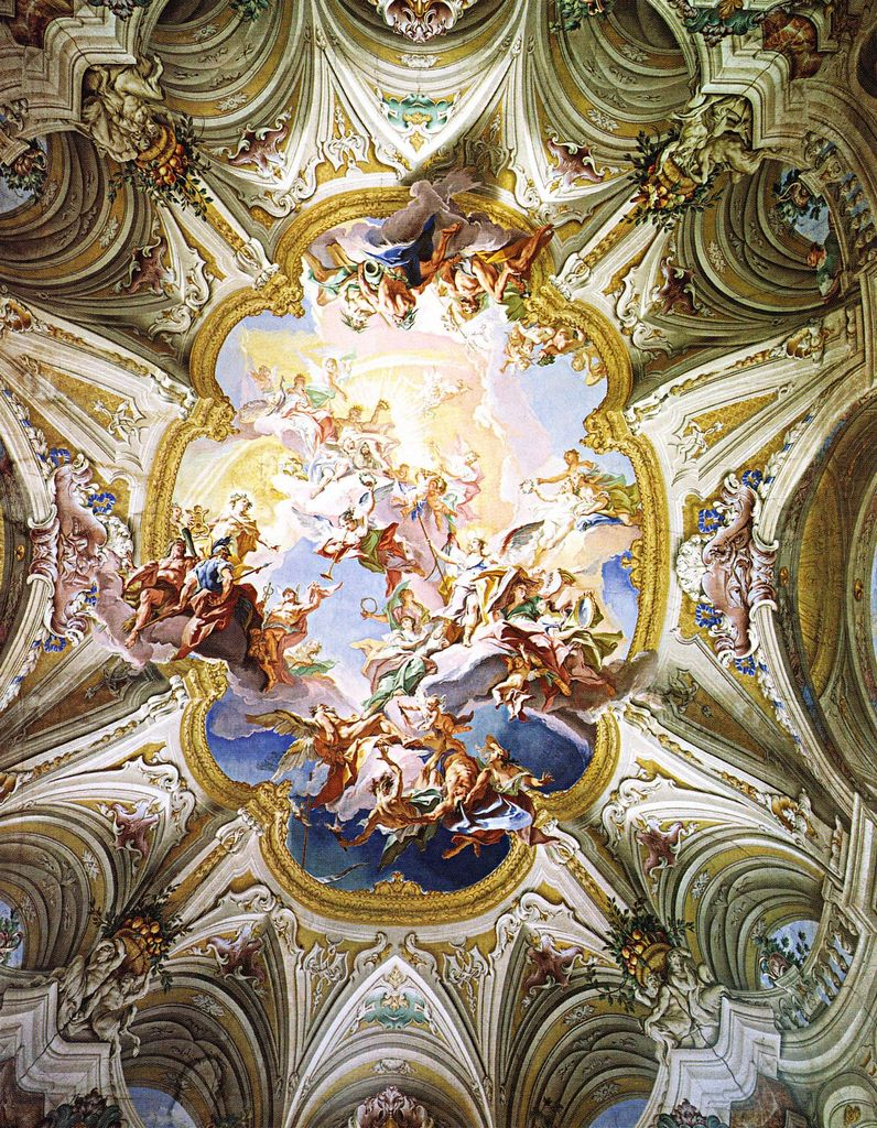 Carlo innocenzo carlone triumph of reason 1745 1747 ceiling the baroque palace carlo innocenzo carlone ceiling painting with triumph of reason over its adversaries c lechi montirone near brecia doublecrazyfo Gallery