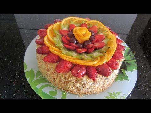 Как украсить торт. Украшение кремом, фруктами, шоколадом ...