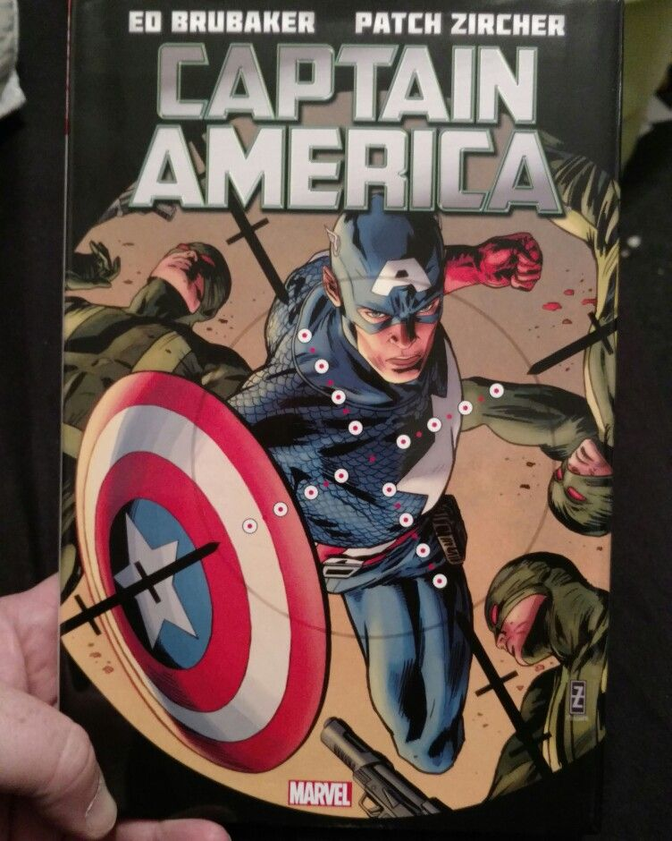 The #CaptainAmerica re-read continues with vol. 3 by Ed Brubaker, Patch Lurcher, & Mike Deodato. After the #MadBomb scare, there's a new #Scourge in town taking down former villains in wit sec. #Cap & co. to the rescue, but there's something familiar about this new Scourge. Good stuff from #Marvel.