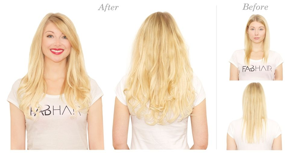 Before N After 613 Light Beach Blonde Hairextensionsremyhair
