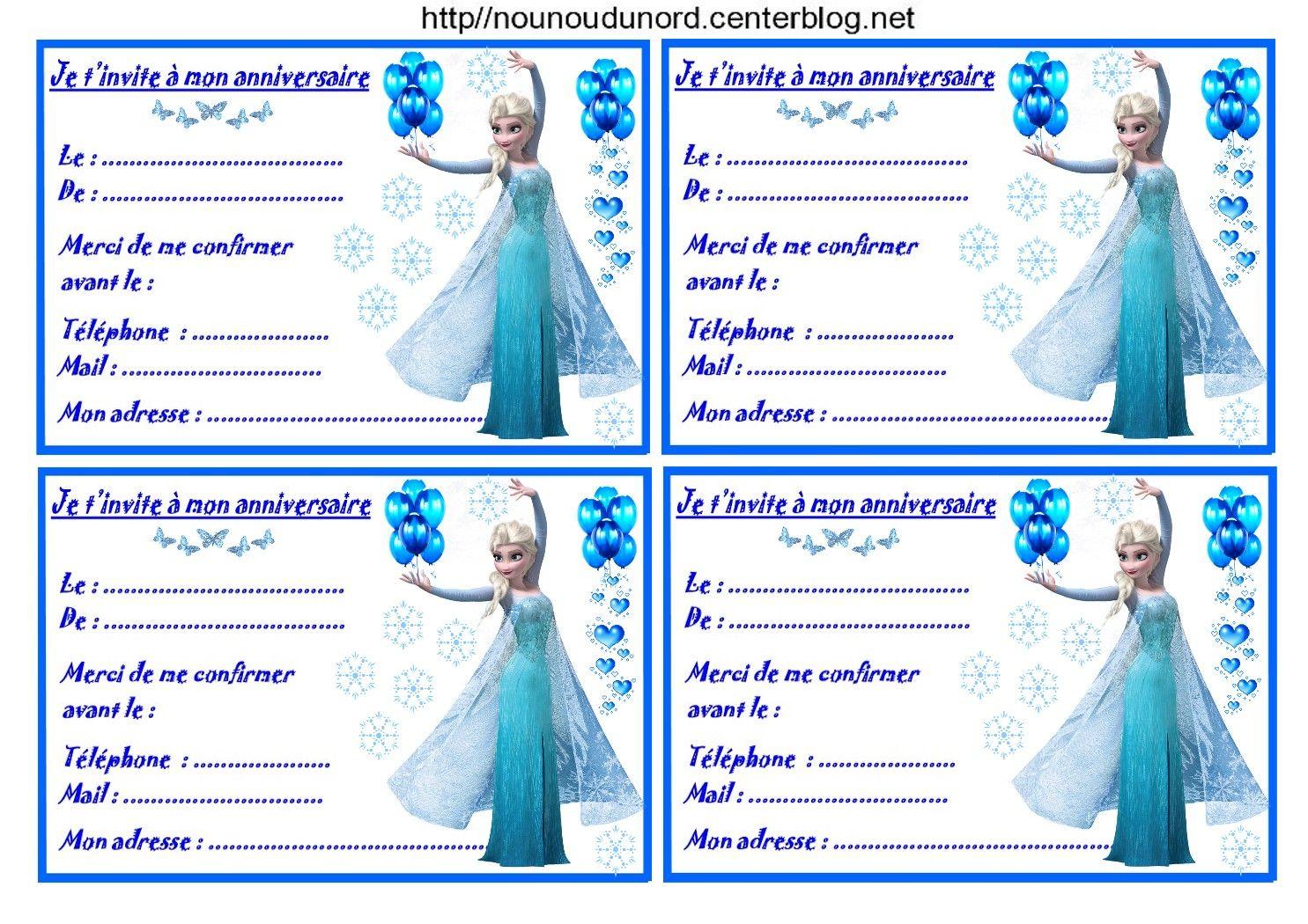 etiquettes invitations reine des neiges pour anniversaire invitations et tiquettes pour les. Black Bedroom Furniture Sets. Home Design Ideas
