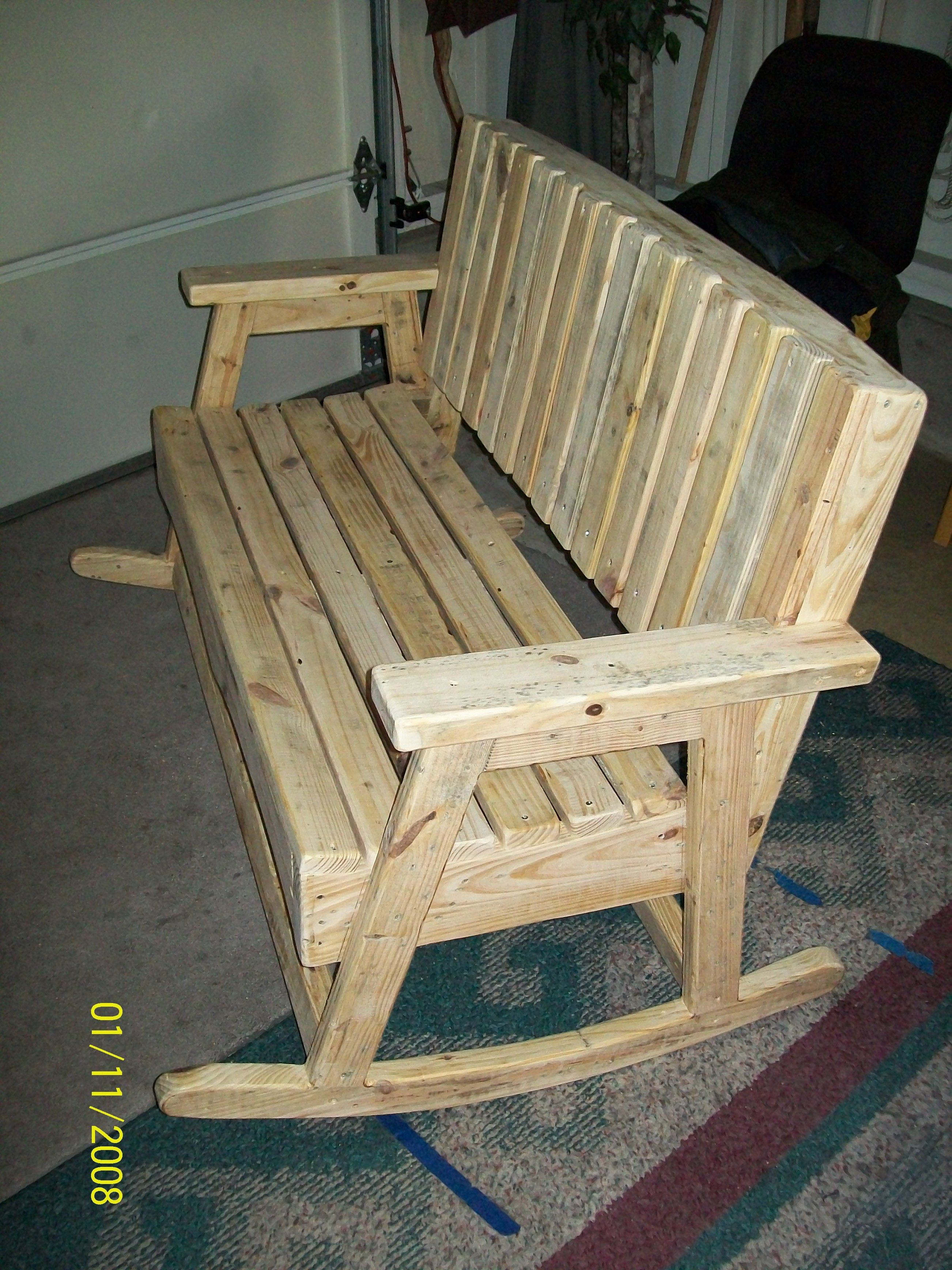 Pin By Kelly Byler On Pallet Rockers Pallet Furniture Wood