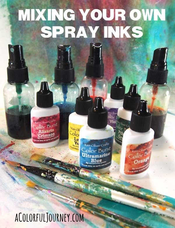 Video making your own spray inks using Color Burst by Ken Oliver