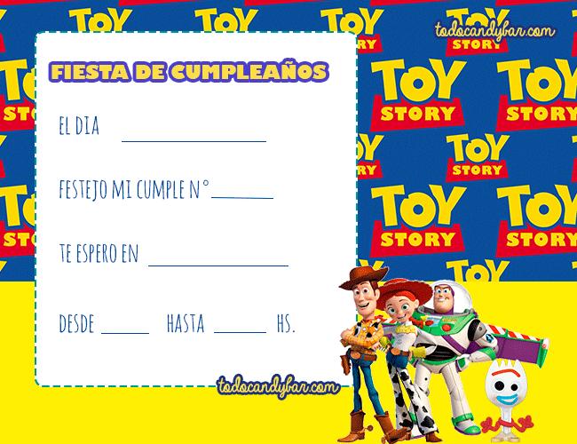 Invitaciones De Cumpleanos Toy Story 4 Woody Buzz Jessy