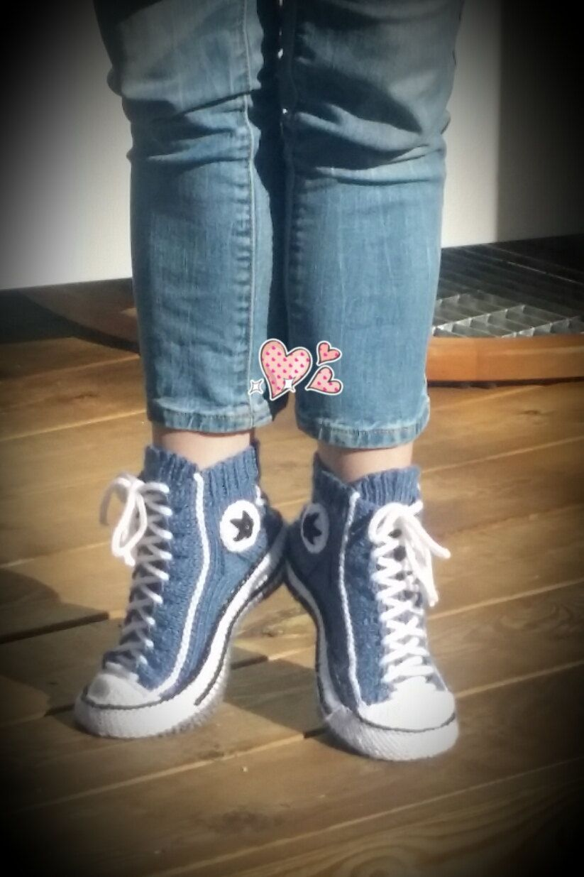 2a5a184656dc Reaverse Star Edition ( ENGLISH and FINNISH ) converse slipper socks DIY  Pattern (4.95 EUR) by Reaverse