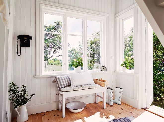 Tour This Bright Swedish Cottage The All White Interior Is Anything But Boring