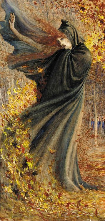 """""""The West Wind"""" by Walter Crane"""