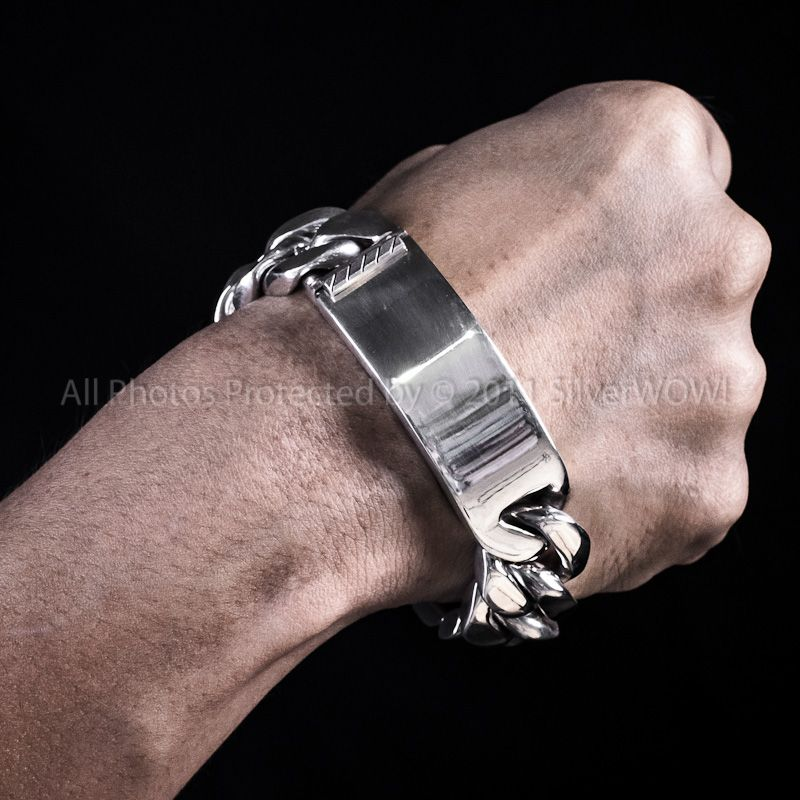 Men S Silver Id Bracelets Click Here For More Info Mens 20mm Bracelet