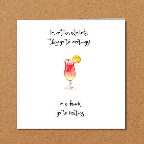 Funny Party Birthday Card Friendship Hen Girlfriend Female Funny