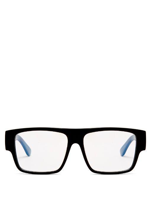 SAINT LAURENT Flat Top Square-Frame Acetate Glasses. #saintlaurent #glasses