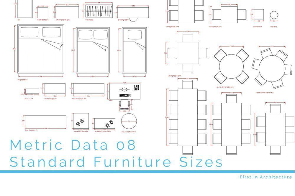 Metric Data 08 Standard Furniture Sizes In 2020 Standard