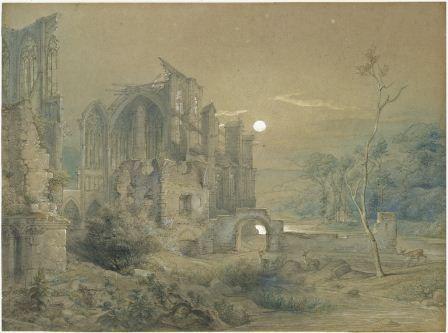 Ruinas de la Catedral de Altenberg, por Caspar Joohann Nepomuk Scheuren, 1878.