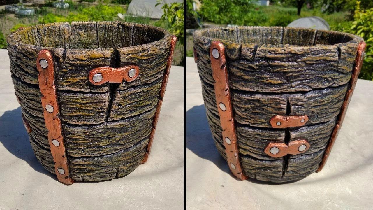 Diy cement flower pot ideas how to make an original