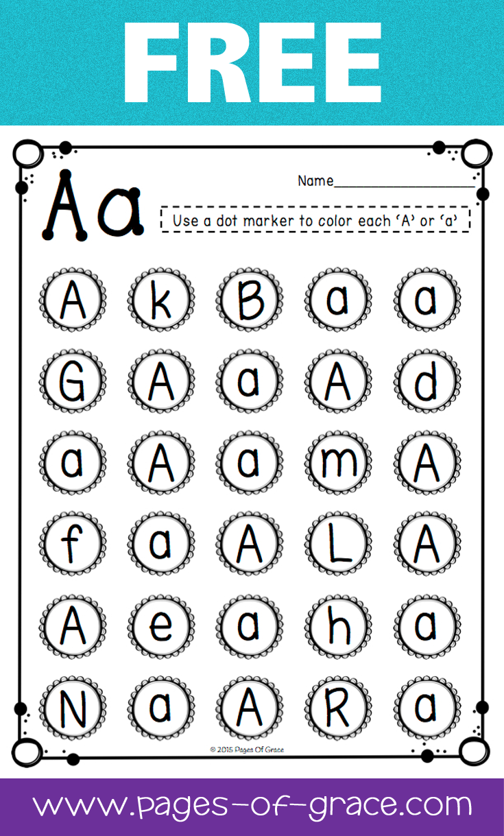Free Uppercase \u0026 Lowercase Letter Recognition Packet Dot Bingo 4 Year Old Alphabet Worksheets Are You Looking For Some Great Activities For Teaching Letter Recognition? Help Your Students Master Uppercase And Lowercase Letters With This Activity