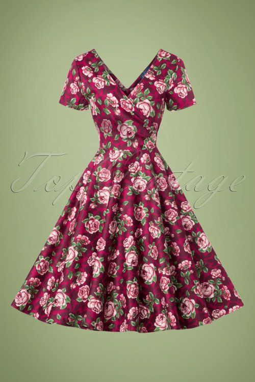2fc326f94b78 Collectif Clothing Maria Bloom Roses Swing Dress 102 27 20010 20161019 0020w