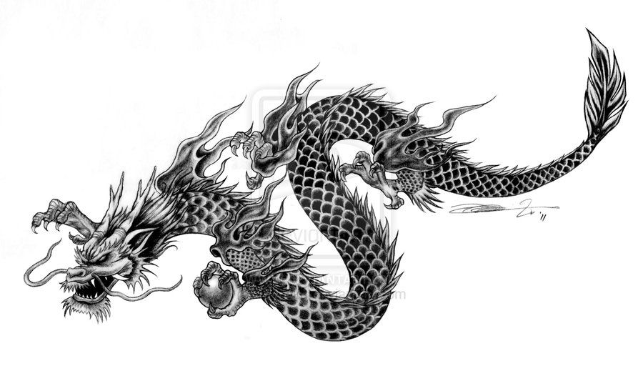 chinese dragon drawings commissioned tattoo art chinese style dragon by mynaito on deviantart. Black Bedroom Furniture Sets. Home Design Ideas