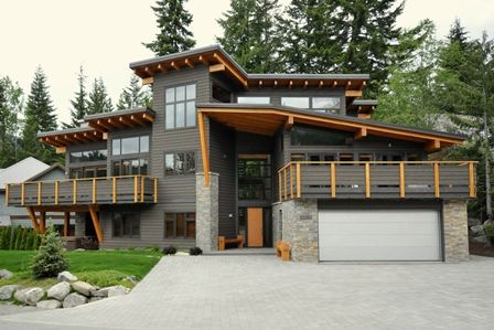 Modern house with distinctive roof line Photo by Jeff Kuly P