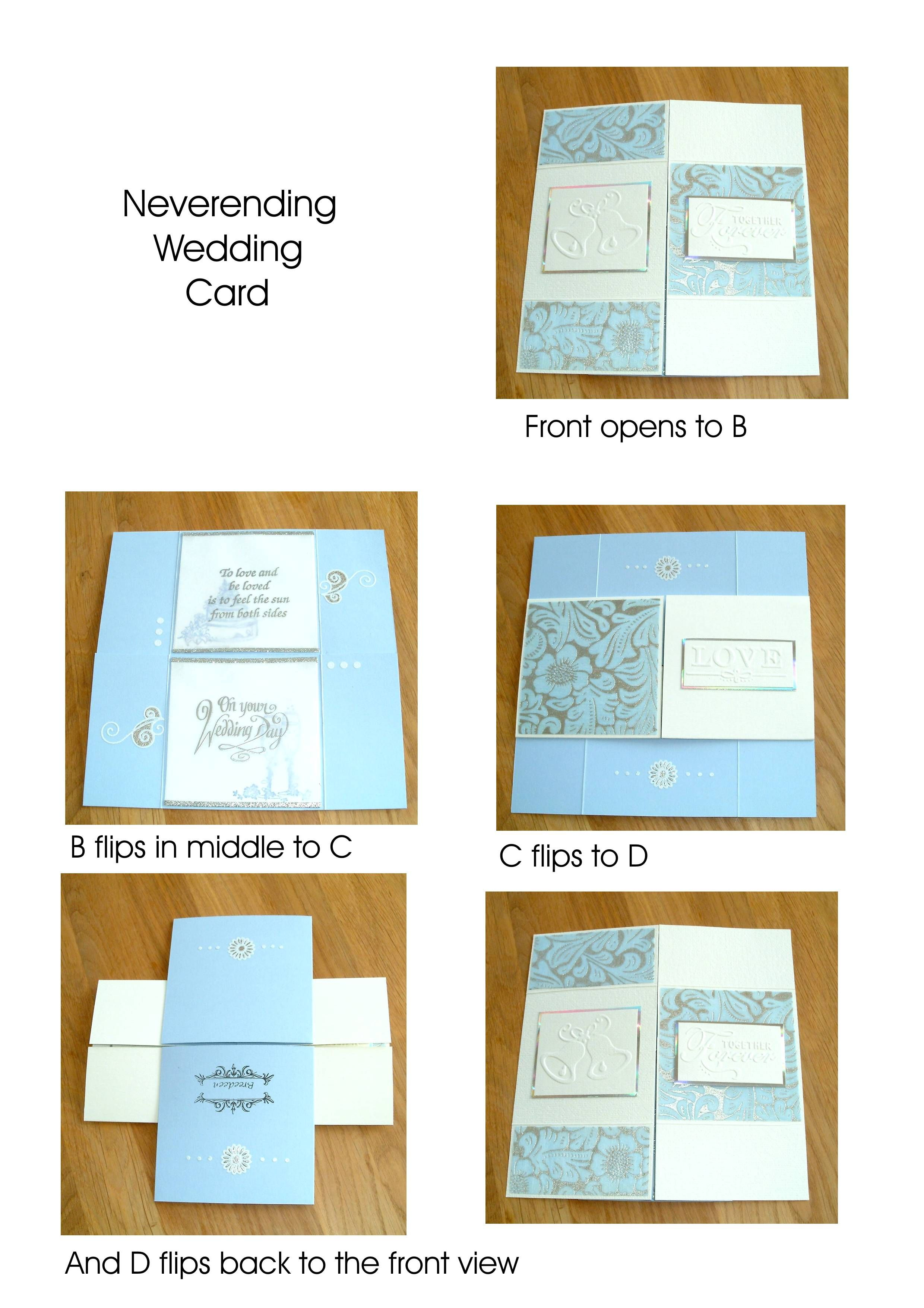 Wedding Card Neverending Fold Never Ending Card