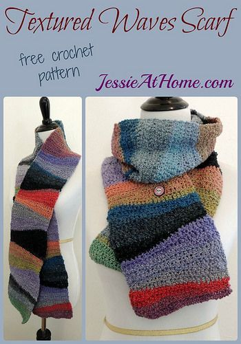 Textured Waves Scarf ~ free crochet pattern by Jessie At Home ...