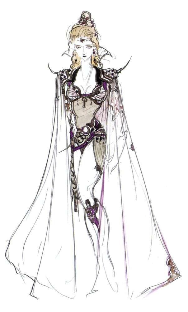 Yoshitaka Amano Rosa Joanna Farrell Final Fantasy Iv Arte Personajes Ilustraciones