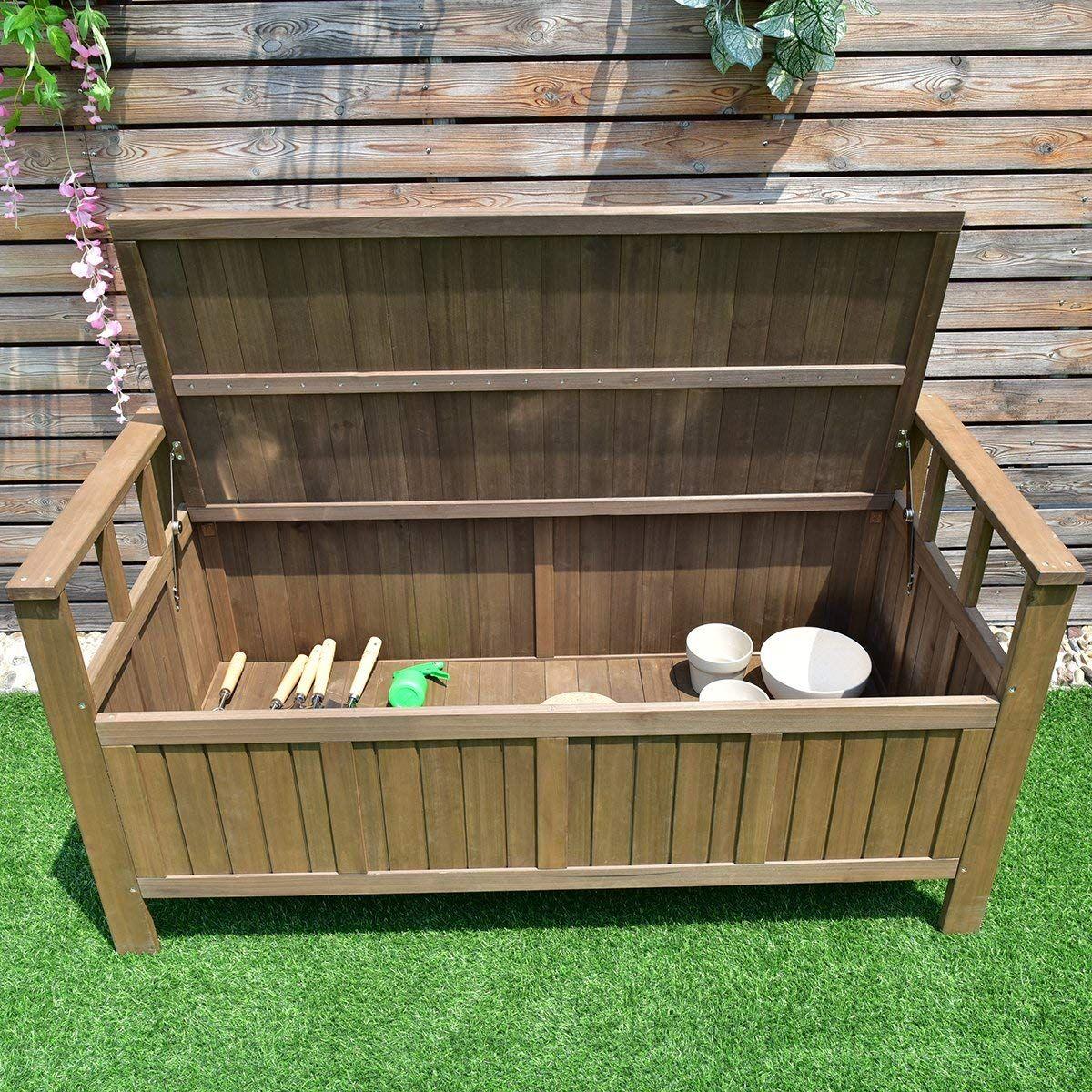 Weather Outdoor Patio Storage Garden Bench | Outdoor Storage Bench ...